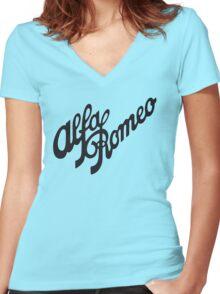 Alfa Romeo Women's Fitted V-Neck T-Shirt