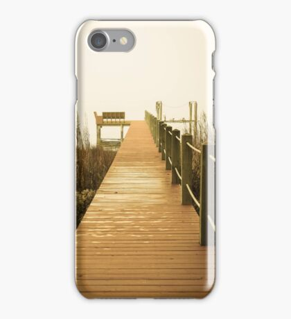 Foggy morning on the dock iPhone Case/Skin