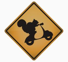 Squirrel on Scooter Warning Sign T-Shirt