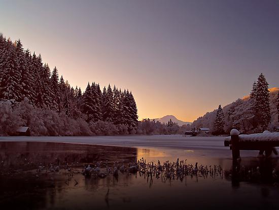 Frozen Loch Ard, Scotland. by Aj Finan