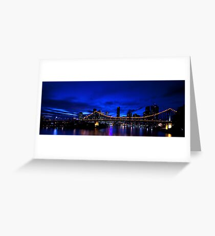 Brisbane after dark.. Greeting Card