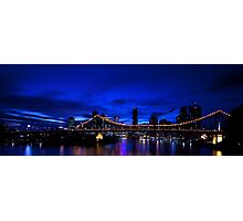 Brisbane after dark.. Photographic Print
