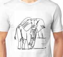 African Elephant-Continuous Line Drawing Unisex T-Shirt