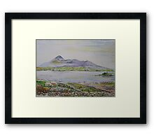 Croagh Patrick in watercolour Framed Print