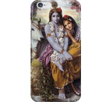 The Divine All-Attractive Couple - Krishna and Radha iPhone Case/Skin