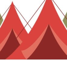 Camping Is In-Tents! Sticker