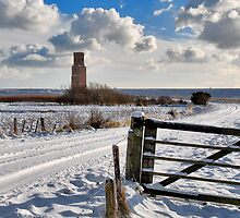 Stubby Tower in winter. by Adri  Padmos