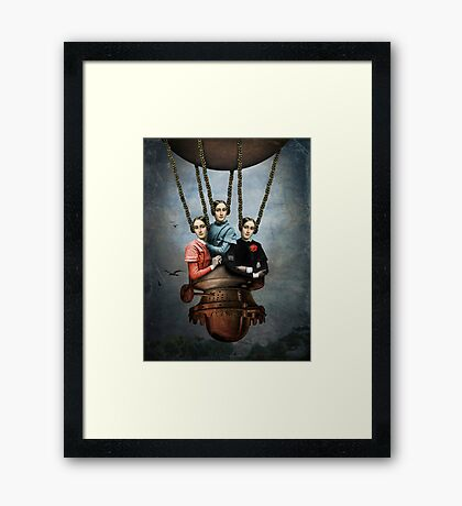 She knew she could fly Framed Print