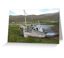 Fishing Boat, Leverborough, Isle Of Harris, Outer Hebrides, Scotland Greeting Card