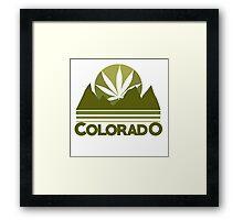 Colorado Marijuana humor Framed Print