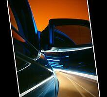 Nightdrive - driving into an evening sky by Mark Pelleymounter