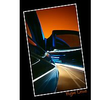 Nightdrive - driving into an evening sky Photographic Print