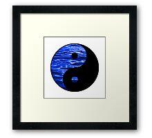 ying yang Framed Print
