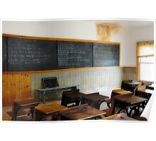 The Classroom In Bannack Poster
