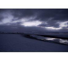 Snowy Beach Photographic Print