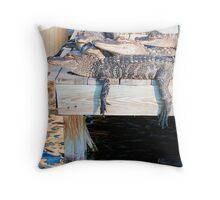 Alligator Hangout Throw Pillow