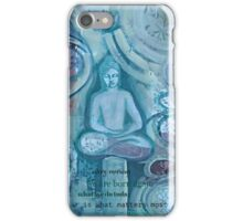 Eithne Sweeney Art, buddha sitting tranquil iPhone Case/Skin