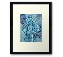 Eithne Sweeney Art, buddha sitting tranquil Framed Print