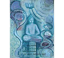 Eithne Sweeney Art, buddha sitting tranquil Photographic Print