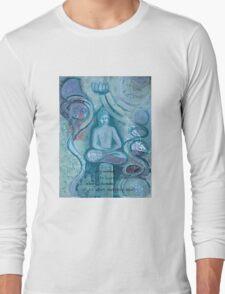 Eithne Sweeney Art, buddha sitting tranquil Long Sleeve T-Shirt