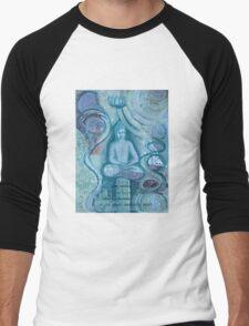 Eithne Sweeney Art, buddha sitting tranquil Men's Baseball ¾ T-Shirt
