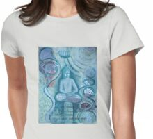 Eithne Sweeney Art, buddha sitting tranquil Womens Fitted T-Shirt