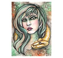 Snake Lady Photographic Print