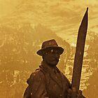 Old Alpine Skier statue, Grindelwald, Switzerland by buttonpresser