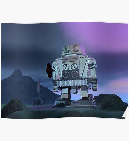 A Robot Moon Walker Poster