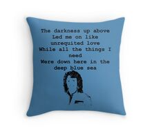 The Darkness with Christa Throw Pillow