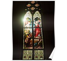 Stained Glass with Angel's Light Poster