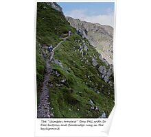 bow fell buttress - the climbers traverse Poster