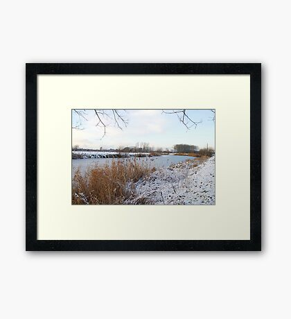 Winter in Flanders Framed Print
