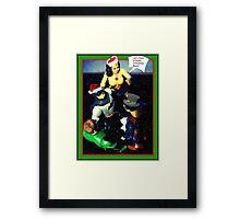 Super Hero Christmas card Framed Print