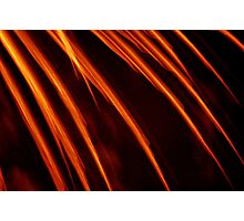 flame fingers Photographic Print