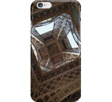 Looking up at the Eiffel Tower  iPhone Case/Skin