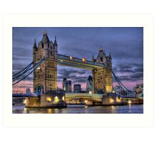 Tower Bridge And The City -  Twilight - HDR Art Print