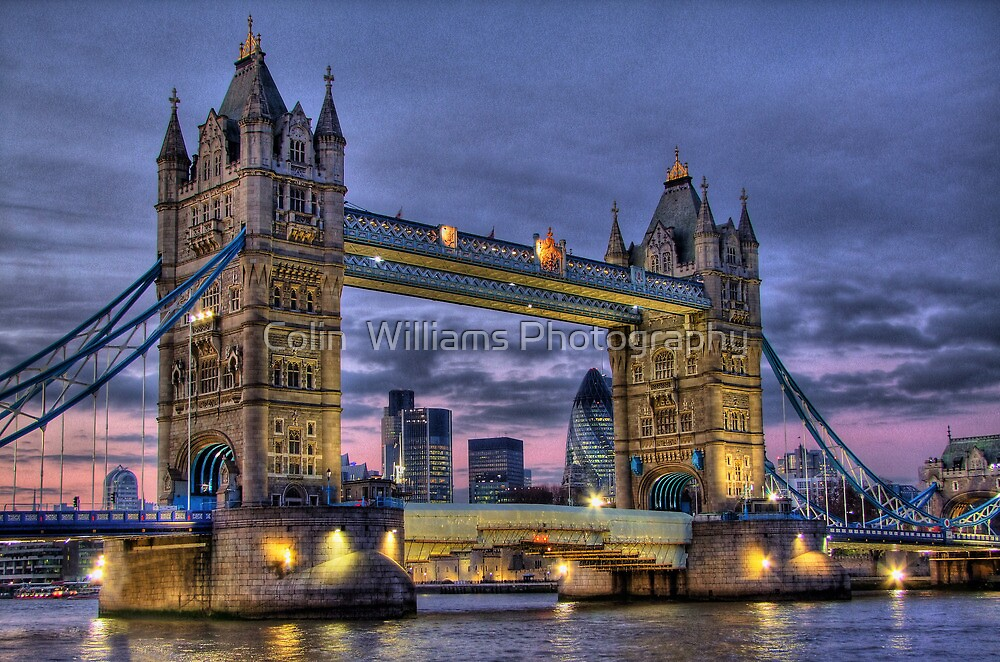 Tower Bridge And The City -  Twilight - HDR by Colin  Williams Photography