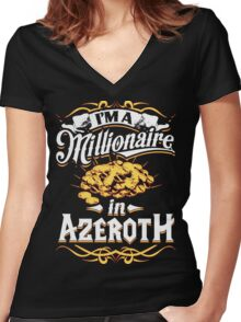 Millionaire in Azeroth Women's Fitted V-Neck T-Shirt