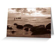 Peaceful Ocean Beach Greeting Card