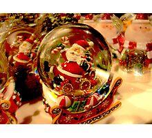 Santa Snow Globe Photographic Print