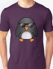 Cool Cartoon Penguin With Sunglasses T-Shirt