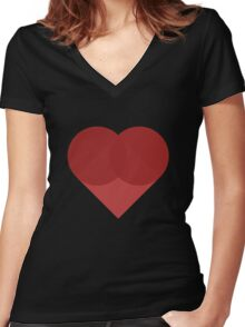 All You Need Is Art - love heart valentine fun cute romance Women's Fitted V-Neck T-Shirt
