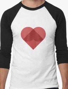 All You Need Is Art - love heart valentine fun cute romance Men's Baseball ¾ T-Shirt