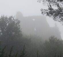 Castle in the Mist-Lazio, Italy by Deborah Downes