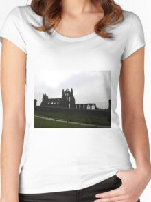 Whitby Abbey, North Yorkshire. Women's Fitted Scoop T-Shirt