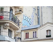 Graffiti on wall, Paris, France Photographic Print