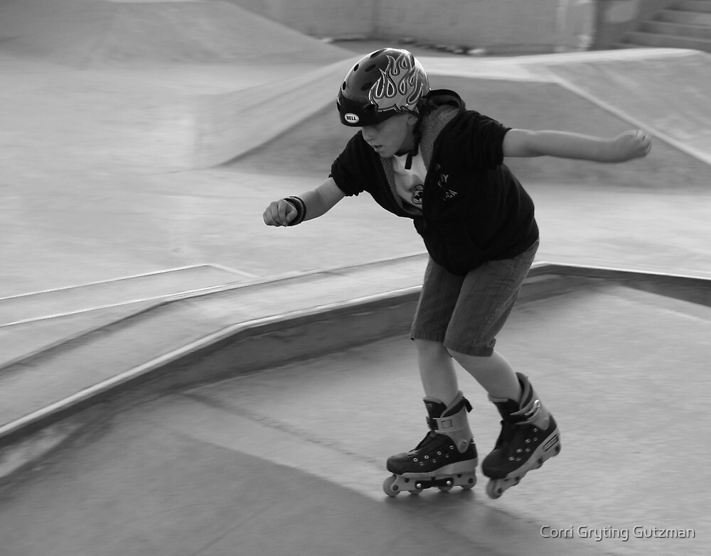 At the Skate Park at Dusk by Corri Gryting Gutzman
