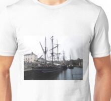 Tall ships in Charlestown Harbour, Cornwall, England. Unisex T-Shirt