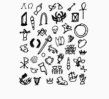 Cemetery Symbology (White) Unisex T-Shirt